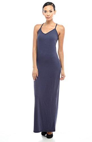 2LUV Damen Kleid rot burgunderfarben, blau (Essential Knit Kleid)
