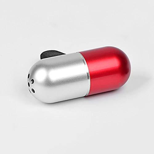SIOJB Deodorante per Auto Capsule in Lega Profumo Clip Profumo Odore Diffusore Automobili Presa d'Aria Profumo Solido Aromaterapia Purificatore d'Aria-Argento Rosso