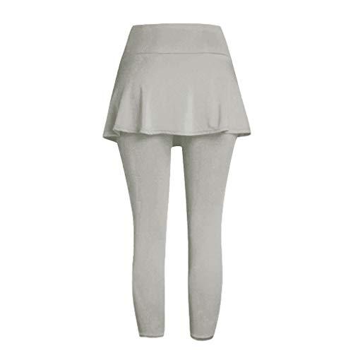 Setsail Damen Casual Rock Leggings Tennis Hosen Sport Fitness Cropped Culottes Trend Hosen (Capri-baumwoll-leibchen)