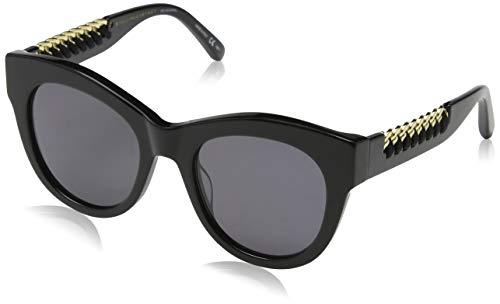 Stella mccartney sc0064s 001, occhiali da sole unisex - adulto, nero (001-black/grey), 51