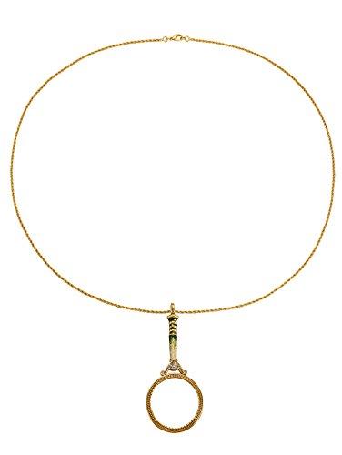 Golden Style Lupen-Anhänger mit Kette