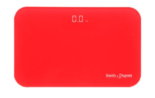 Smith & Dupont - Digitale Personenwaage - Colorscale - 180 Kg / 0.1 Gr (Rot)