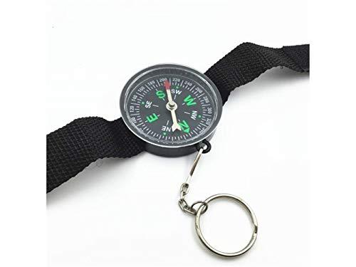 Plsonk Explorer Compass, Les Outils de Navigation d'exploration multifonctionnels extérieurs explorent la Boussole pour Camper (Noir) Outil de Navigation