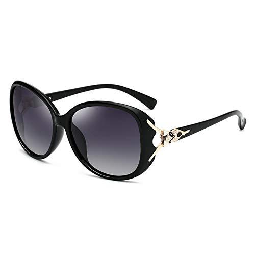 SUNNYJ Sonnenbrille Polarisierte Sonnenbrille Frau Diamond Fox Damen Sonnenbrille Retro Vintage Oval Famale Eyewear 35 C1