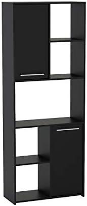 Politorno, Jurere Bookcase, MDF, Black - 170425
