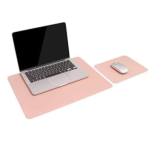 Glas-büro-computer-schreibtisch (2 Packung Mauspad, YSAGi Leder Schreibtischmatte Laptop Schreibtisch Pad Computer Schreibtisch Mousepad Büro Zubehör Geschenkset (Rose))