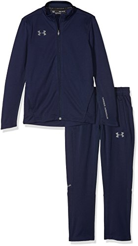 Under Armour Jungen Y Challenger II Knit Warm-Up Trainingsanzug, Blau, YSM Polyester Warm Ups
