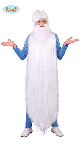 Weiser Mann Kostüm Wissenschaftler Alt Weise Klug Langer Bart Weiß Zauberer Set, (Kostüme Wissenschaftler)