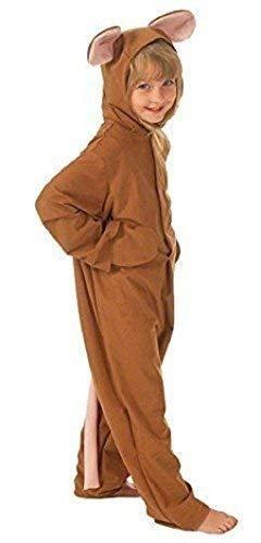 Kostüm Zubehör Braun Maus - Fancy Me Mädchen Jungen Braun Maus + Quietschi Tier Büchertag Kostüm Kleid Outfit 4-10 Jahre - Braun, 4-6 Years (116cms)