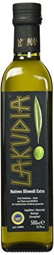 Lakudia Olivenöl extra nativ, Flasche, 1er Pack (1 x 500 ml)