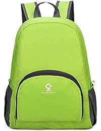 Smnyi Nylon Pieghevole Mochilas Multiusos Hombre Sports Bag Unisex  Impermeable Bolsa de Agua Color sólido Outdoor Mochila… 95f978c6e69c9