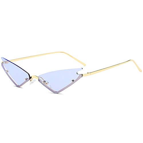 Kjwsbb Kleine Sonnenbrillenfrauen, die bunten Metallrahmen kühlen Unisexsonnenbrillen
