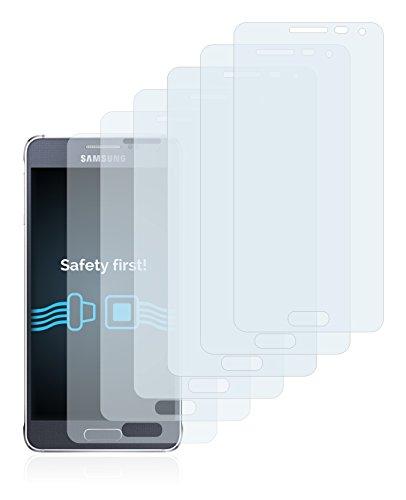 Savvies Pellicola Protettiva Compatibile con Samsung Galaxy Alpha SM-G850F Protezione Schermo [6 Pezzi]