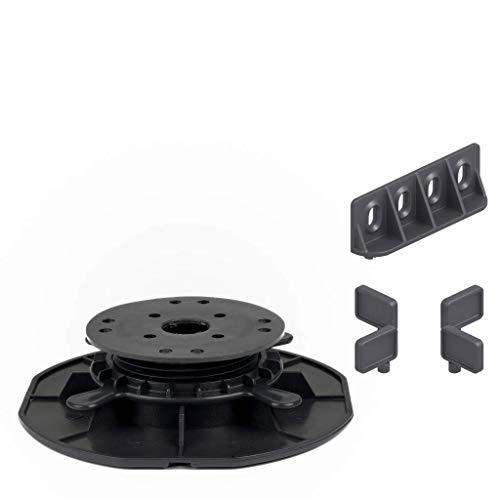 25 Stück Trevendo® Universal Stelzlager & Plattenlager M 30-45 mm für Holz, WPC und Stein