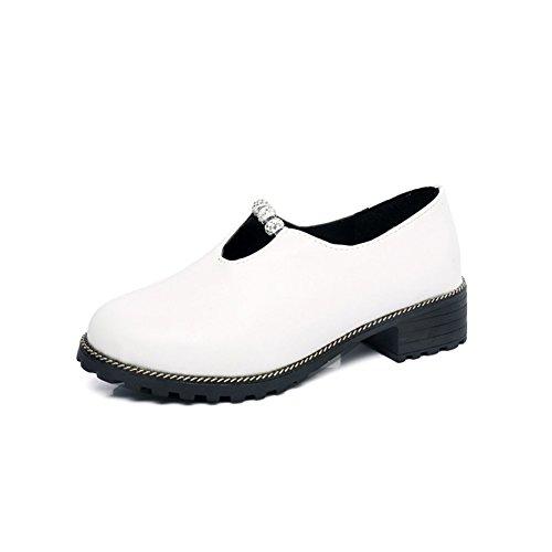 Printemps été automne école de chaussures de vent avec des semelles épaisses de loisirs strass coréenne du pied/ chaussures de mode étudiant d'Angleterre A