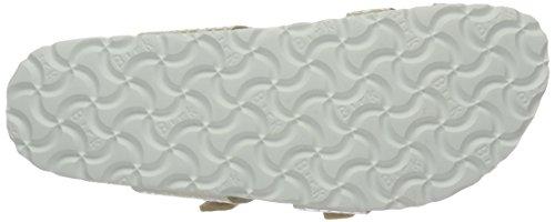 Birkenstock Mayari Birko-Flor, Tongs Femme, Shiny Snake Cream Beige (Shiny Snake Cream)