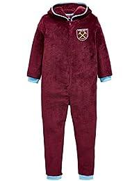 Chicos West Ham con capucha de forro polar con cremallera martillos 3 a 12 años