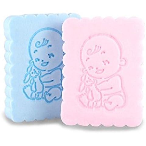 XJoel tutte le fibre naturali per bambini Spugna confortevole Spugna da bagno 2 Conte