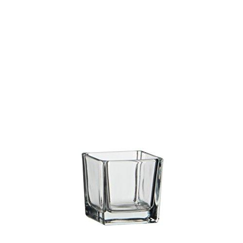 MICA Decorations 1013001 Lotty Vase, Glas, Transparent, 6 x 6 x 6 cm