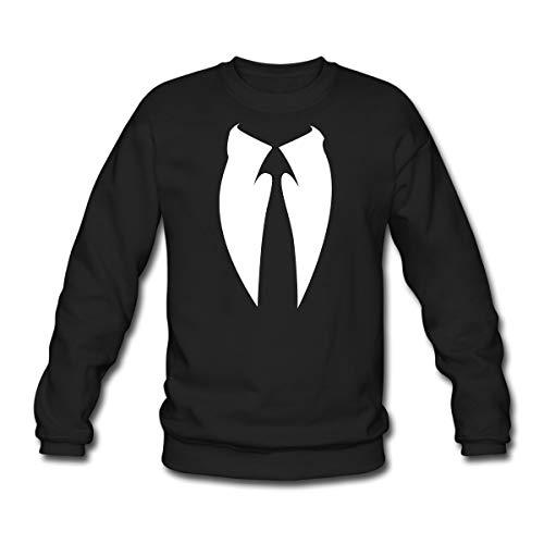 Spreadshirt Anonymous Anzug Krawatte Männer Pullover, M, Schwarz