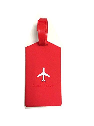 NOVAGO ® Etiqueta para equipaje ,Tag bolsa de viaje de - Avión (cuad