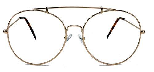 amashades Vintage Nerdies Große nerdige Pilotenbrille Damen Herren oversized Nerdbrille...