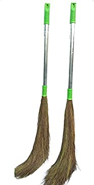 Raja Brooms Jhadu for Floor and Home with Steel Handal Broom Eco Frinendly Soft Grass FloorBroom for Cleaning