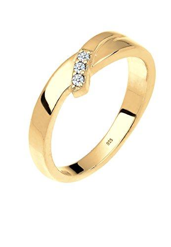 Diamore Damen-Ring Verlobung Trio Diamant