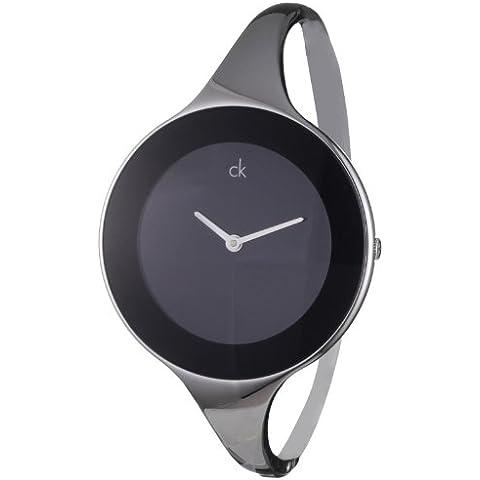 Calvin Klein Mirror K2824130 - Reloj de mujer de cuarzo, correa de acero inoxidable color plata