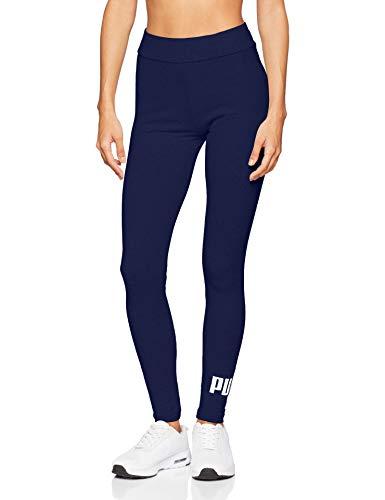 Puma Damen ESS Logo Leggings Hose, Peacoat, XS -