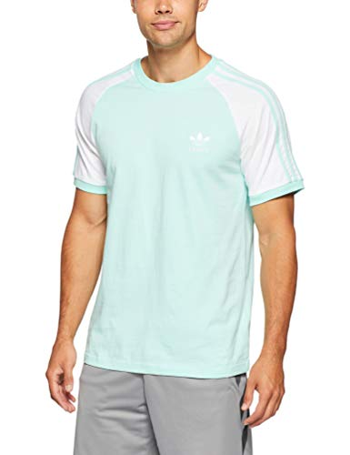adidas Herren 3-Stripes T-Shirt, Clear Mint, S