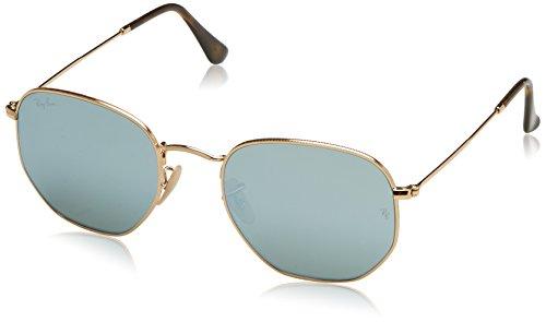 RAYBAN JUNIOR Unisex-Erwachsene Sonnenbrille Hexagonal Gold/Greyflash, 54
