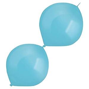 amscan 9905690 50 - Globos de látex (izquierdos), Color Azul