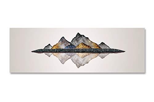 Fajerminart Stampa su Tela Riflessione di Paesaggio di Montagna Quadri Astratti Dipinto su Tela Adatto per Quadri Moderni Soggiorno Camera da Letto