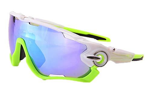 (Daesar Motorradbrille Beschlagfrei Unisex Schutzbrille Winddicht Sonnenbrille Grün Blau)