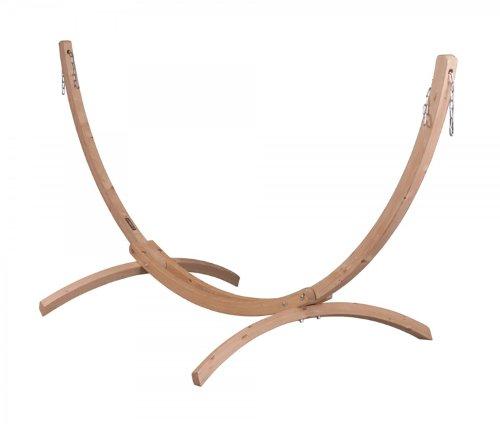 Support pour Hamacs Simples Carola en bois, Dim : 326 x 143 x 126 cm -PEGANE-