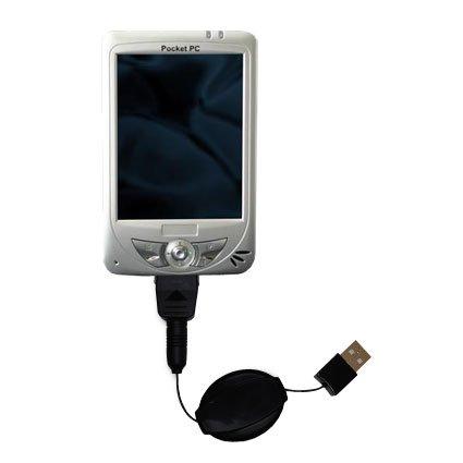 Le Câble USB Rétractable Charge/Transfert Pour le Medion MD95459 - Vous propose deux services en un : charge et transfert de données
