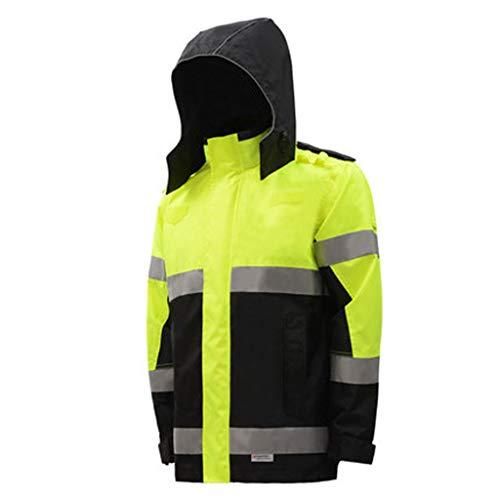 Reflektierender Regenmantel, Reiten Autobahn Verkehrsschutzjacke Top Road Safety Wasserdichte Fluoreszierende Jacke Sicherheitskleidung Gute Qualität (größe : S)