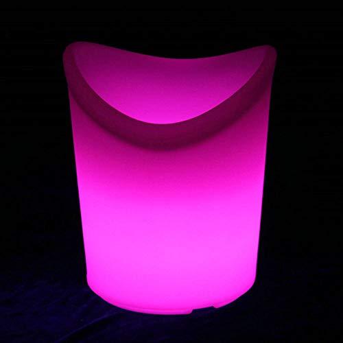 35 Flasche Wein Kühler (Northerncold Blumentopf beleuchtet,Led leuchtende Eiskübel, wasserdichte Anti-Drop-Fernbedienung ktv bunten Eimer, 29 * 33 * 35cm,Sektkübel)