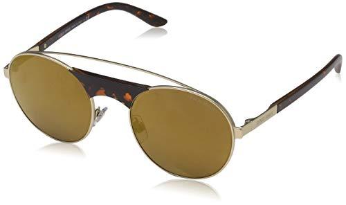 Armani Herren 0AR6047 30027D 53 Sonnenbrille, Matte Pale Gold/Brownmirrorbronze,