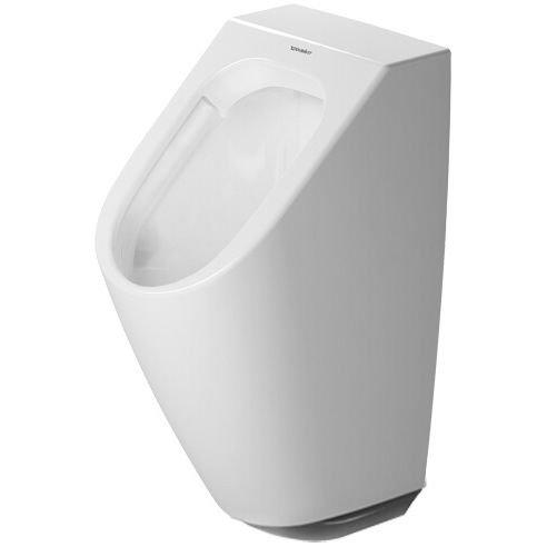 Duravit Urinal ME by Starck, Zulauf v.hinten rimless, f.Netz, weiß HygieneGlaze, 2809312093
