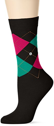 Burlington Damen Socken Queen, Mehrfarbig (Black 3006), 36/41