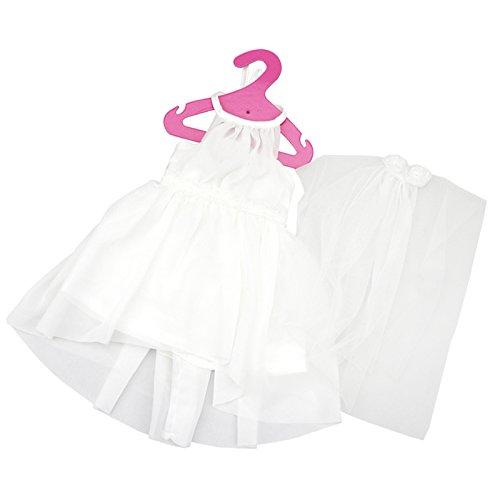 Preisvergleich Produktbild Gazechimp Puppen Brautkleid mit Schleier, 2 Geschichte, Mesh fuer 18 Zoll American Girl