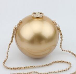 LDMB Damen-handtaschen Mode-Acryl Perle kosmetische Kuriertasche electroplating gold double c
