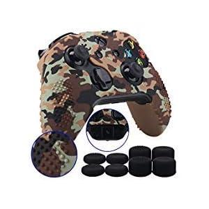 9CDeer 1 Schutz Transferdrucken Silikon Abdeckung Haut Ärmel Fall Cover Skin Hülle 8 Thumb Grips Aufsätze für Xbox One/S…