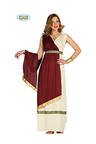 antikes Tiberia Römerin Kleid Karneval Party Kostüm Damen rot beige Gold Gr. M-XL, ()
