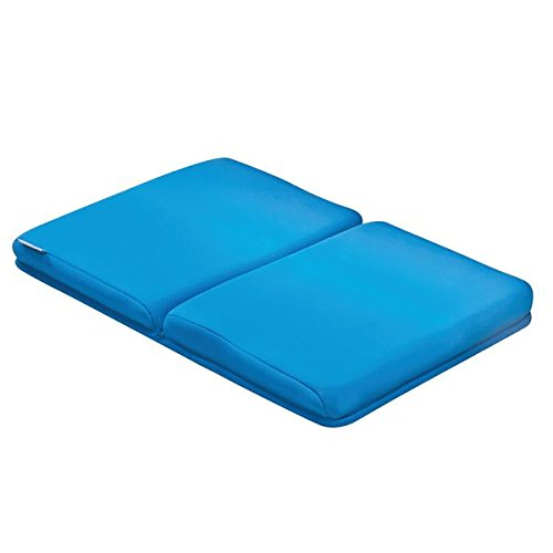 mDesign Pflegeleichte Kniematte zum Baden der Kinder - Badematte für Bad oder Küche - schnelltrocknender Badewannen Vorleger - Langlebiges Badzubehör - blau - Klassische Krippe Schuhe