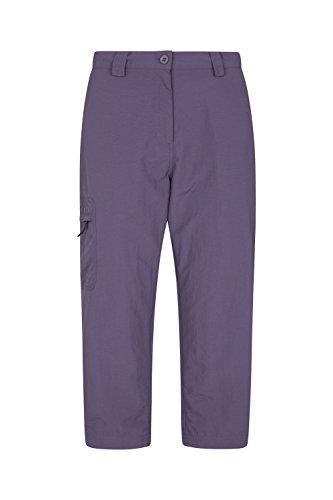 Mountain Warehouse Explore Caprihose für Damen - Schnelltrocknende Caprihose, leichte Sommerhose, ausbleichsichere 7/8-Hose, dehnbare Freizeithose - Für Yoga, Laufen Violett DE 46 (EU - Fahrrad Reflektierende Shirt