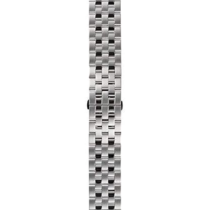 DETOMASO AURINO Reloj Caballero Analógico Cronógrafo Cuarzo Correa de Acero Inoxidable Plata Esfera Blanca DT1061-D-866