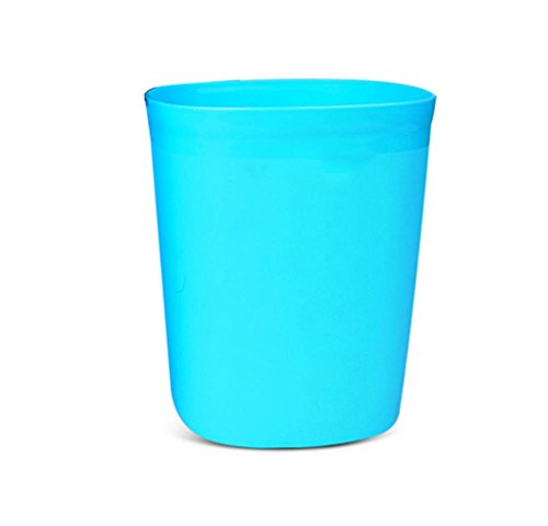 ein Typ-Desktop Heim Mini Mülleimer aus Kunststoff ohne Deckel Creative Desk Wastebasket geladen (2) M blau (Schritt 2 Blaue Wagen)